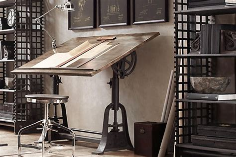 industrial style home office desk rustic industrial decor architect best element