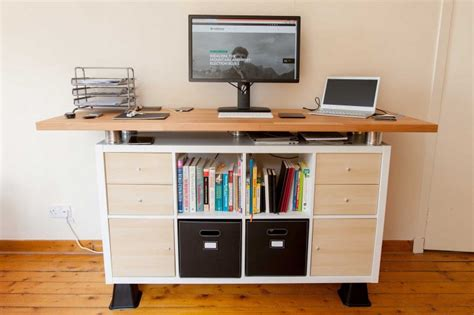 Ikea Computer Desk Hack by My Awesome Standing Desk Ikea Hack Soulchaser