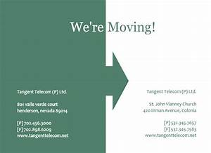 business moving announcement template design sample With business moving postcards announcement