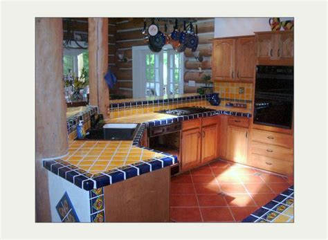 mexicantiles mexican talavera tile in kitchen island