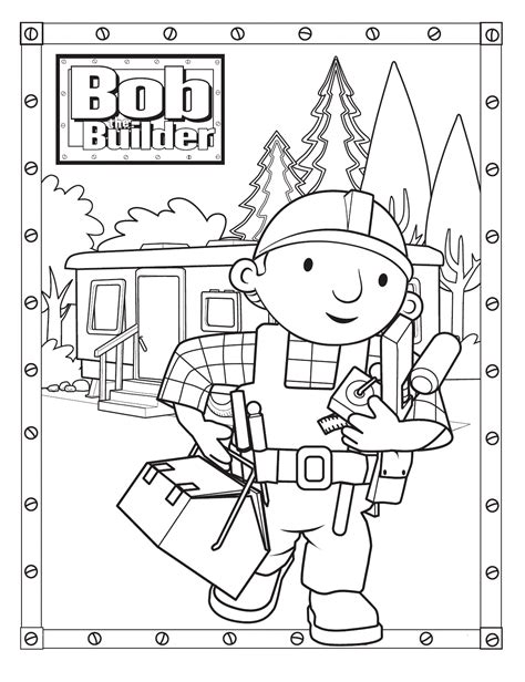 Builder Free Print by Free Printable Bob The Builder Coloring Pages For