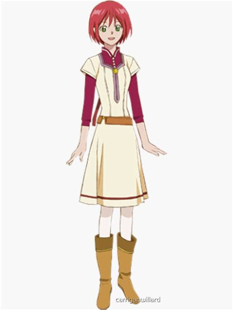 shirayuki from snow white with the hair sticker by