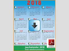 Jaarkalender2018weeknummerspreview01 by feestbelgie on