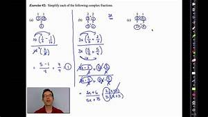 Common Core Algebra Ii Unit 10 Lesson 9 Complex Fractions