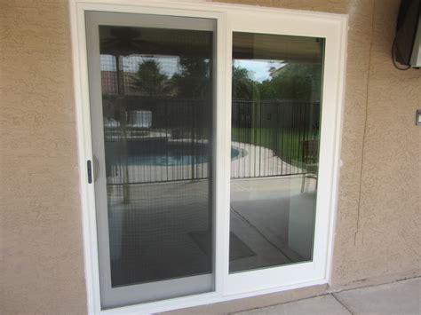 white rail door with sliding screen door