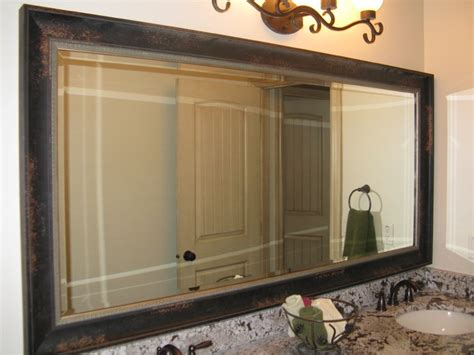 New Frame A Bathroom Mirror With Tile