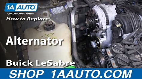 replace install worn  alternator   buick