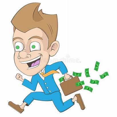 Businessman Successful Cartoon Money Clipart Him