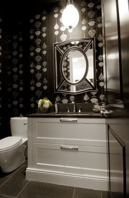 powder room mirror contemporary bathroom atmosphere