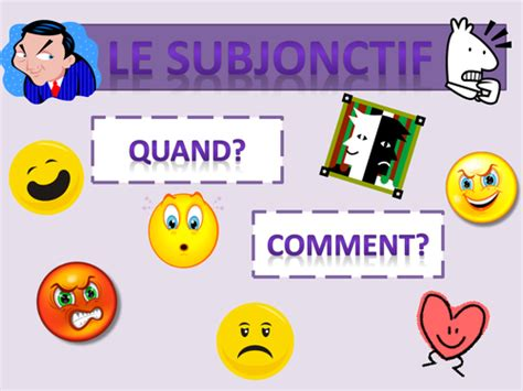 Subjunctive Subjonctif By Noubidoux  Teaching Resources Tes