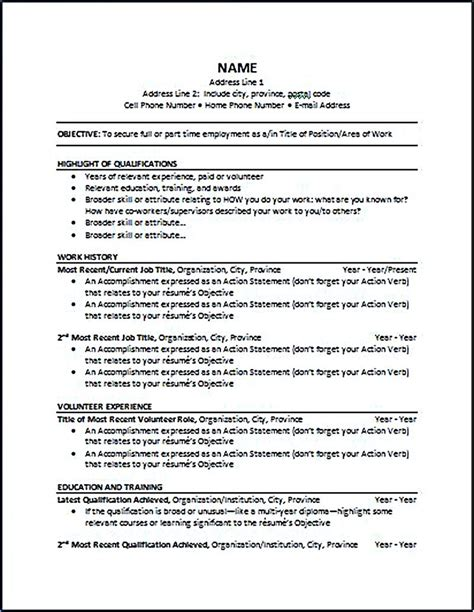 Chronological Resume by Chronological Resume Is One Of The Most Popular Formats