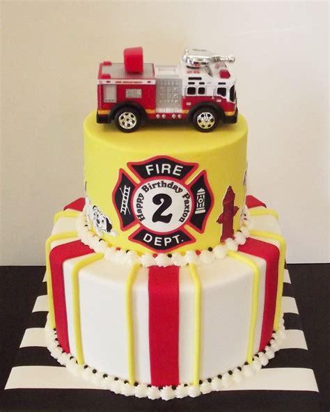 fireman birthday cake cookie cake ideas
