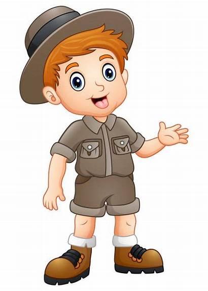 Zookeeper Clipart Explorer Boy Waving Illustration Clip