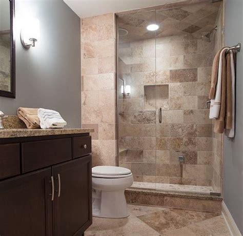 Modern Brown Bathroom Ideas by Brown Wall Tiles For Small Guest Bathroom Ideas