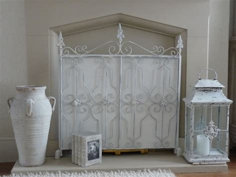 shabby chic fireplace screen i love my home shabby chic fire screen