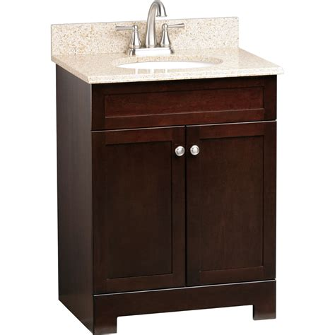style selections shop style selections longshire espresso undermount single sink bathroom vanity with granite top