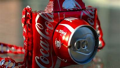Cola Coca Camera Cans Soda Drink Recycled