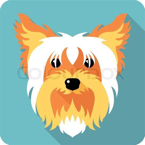 dog yorkshire terrier icon flat design stock vector