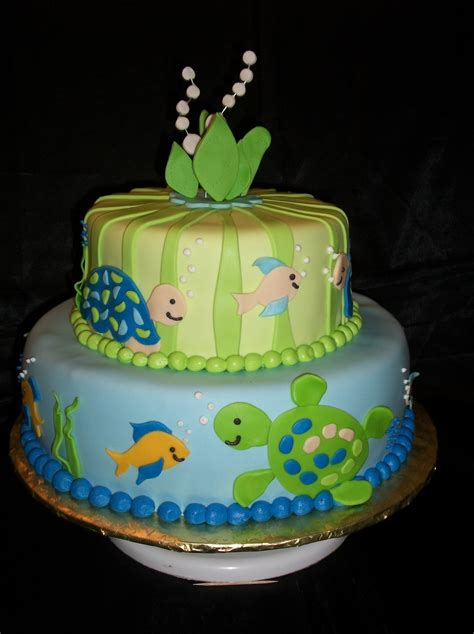 turtle decorations for cakes turtle reef baby shower cake cakecentral