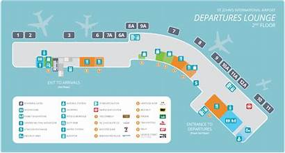 Airport Terminal Map Building Maps International John
