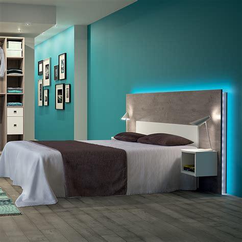 chambre a coucher peinture tête de lit kazed