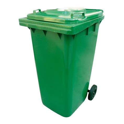 poubelle de cuisine verte poubelle verte à roulettes 240l réf 147720