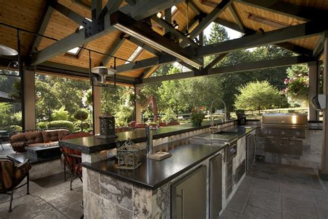 Family Kitchen Ideas - large covered outdoor living space remodel mcadams remodeling