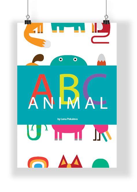 abc animal book  behance