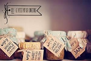 Petit Pot De Confiture : petits pots de confiture tiquettes d co mariage ~ Farleysfitness.com Idées de Décoration