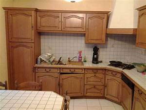 Comment Décaper Un Meuble Vernis En Chene : r nover une cuisine comment repeindre une cuisine en ~ Premium-room.com Idées de Décoration