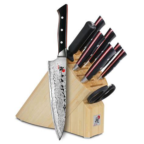 miyabi fusion knife block set  piece cutlery