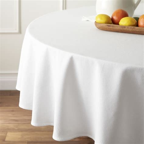 round white table cloth abode white 90 quot round tablecloth reviews crate and barrel