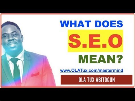 seo meaning in business what does seo in blogging marketing and business and