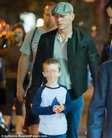 Daniel Craig strolls with Rachel Weisz and her son after a ...