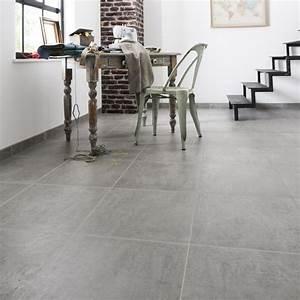 Carrelage sol gris effet beton alma l45 x l45 cm leroy for Plinthes couleur mur ou sol 5 carrelage sol gris effet beton alma l 45 x l 45 cm leroy