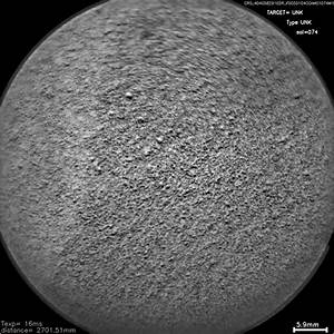 Space Images   Laser Hit on Martian Sand Target, Before ...