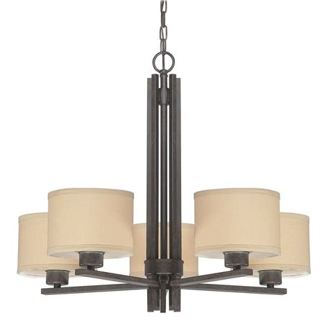 linen chandelier shades five light chandelier with linen shades 2940 34