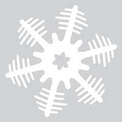 Snowflake Template Paper Snowflake Pattern With Trees