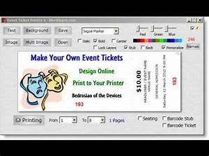 easy ticket creator software youtube With create your own tickets template