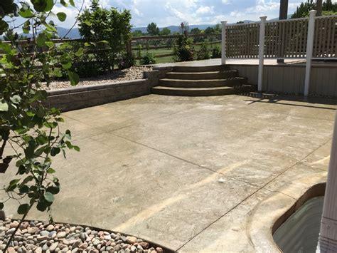concrete deck and patio construction colorado