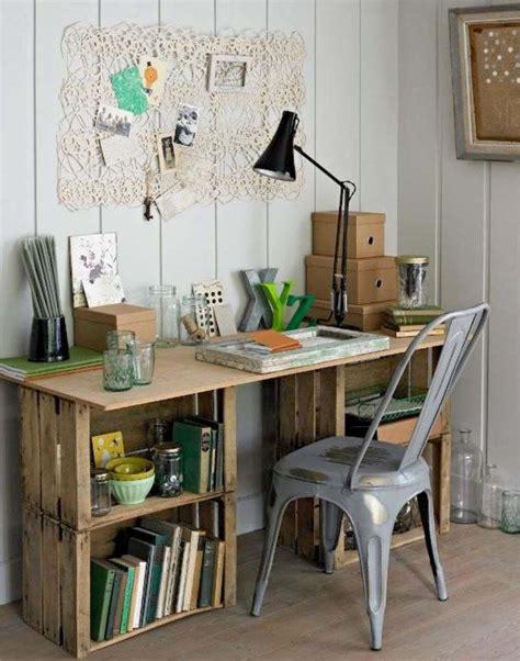 bureau en palette de bois meuble en palette 34 idées fraîches de diy déco naturelle