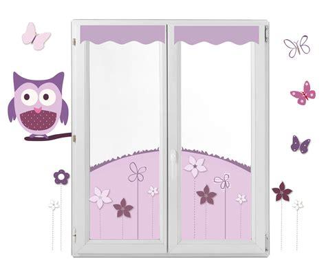 rideau chambre bébé garçon décor fenêtre chouette et papillon en lieu et place des