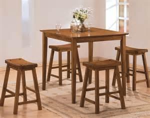 oak dining room set homelegance saddleback 5 counter dining room set in oak beyond stores