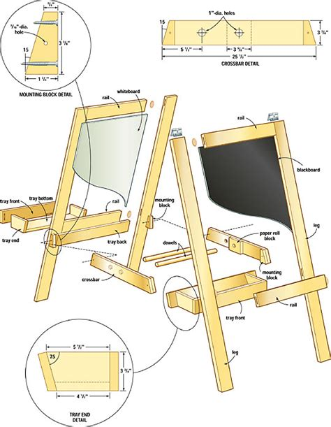 plans  wood easel  woodworking