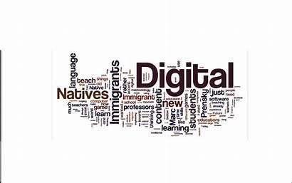 Digital Immigrants Natives Wordle Whizz Prensky Gave