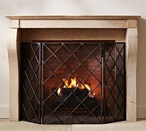 pottery barn fireplace screen 17 best images about mantel inspiration on