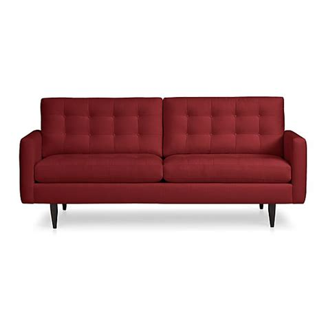 crate and barrel petrie leather sofa petrie apartment sofa snow crate and barrel