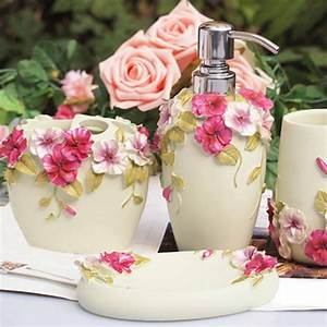 shabby chic white bathroom set With shabby chic bathroom accessories sets