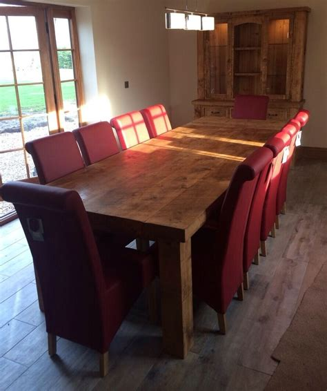 solid wood dining table chunky rustic wooden plank