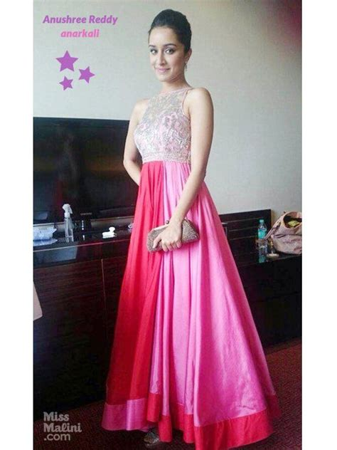 shraddha kapoor  anushree reddy indian gowns